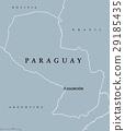 paraguay, map, political 29185435