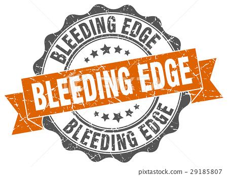 bleeding edge stamp. sign. seal 29185807