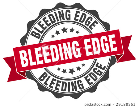 bleeding edge stamp. sign. seal 29188563