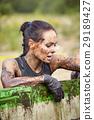 extrim race concept. Survival woman 29189427