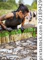 extrim race concept. Survival woman 29189429