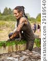 extrim race concept. Survival woman 29189540
