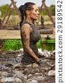 extrim race concept. Survival woman 29189542