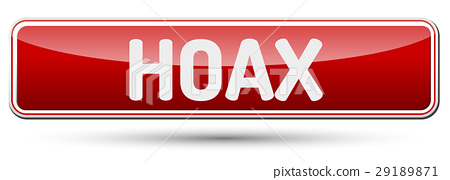 HOAX - Abstract beautiful button with text. 29189871