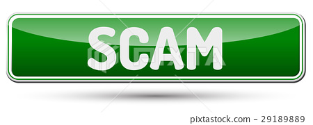 SCAM - Abstract beautiful button with text. 29189889