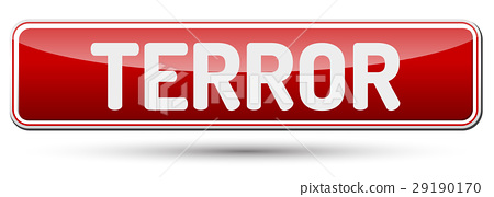 TERROR - Abstract beautiful button with text. 29190170