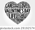 Valentine's Day word cloud collage 29192574