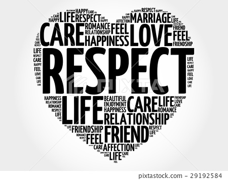 Respect word cloud collage 29192584