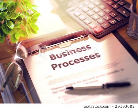 Business Processes Concept on Clipboard. 3d. 29193085