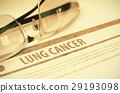 Diagnosis - Lung Cancer. Medicine Concept. 3D 29193098