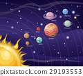 Solar System with Sun and Planets on Orbit 29193553