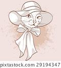 Vector sketch of elegant cat 29194347