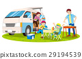 Camper and barbecue 29194539