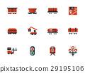 railway, icon, flat 29195106