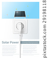 Green energy concept background with solar panel 29198118