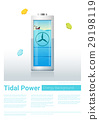 Green energy concept background with tidal energy 29198119