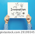 Innovation text on a white poster 29199345
