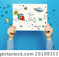 Idear Rocket on white poster 29199353