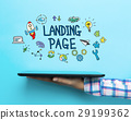 Landing Page concept with a tablet 29199362