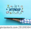 Internship concept with a tablet 29199364