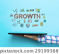 Growth concept with a tablet 29199368
