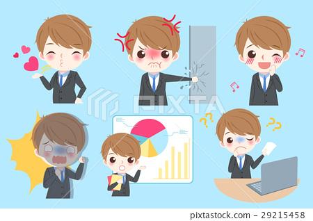 businessman do different emotion 29215458