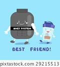 cute cartoon whey protein 29215513