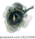 Green fabric flower 29215568