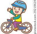벡터, 어린이, 자전거 29219424