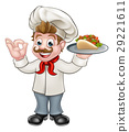 Chef Kebab Cartoon 29221611