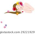 눈을 감고 누워있는 여자 29221929