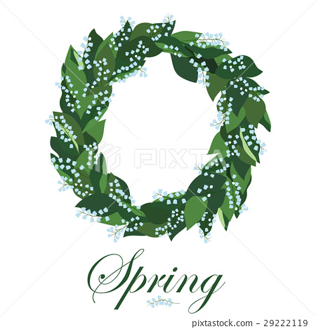 Floral wreath with lilies of the valley, spring 29222119