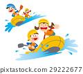 漂流,橡皮船下游,河降,休閒船 29222677