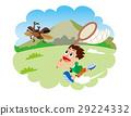 곤충 채집, 곤충 잡기, 벌레 그물과 아이 딱정벌레 29224332