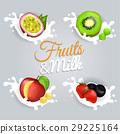 splash, milk, fruit 29225164