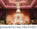 wedding cake at wedding reception 29225403
