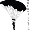 parachutist silhouette vector 29225984