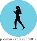 runner silhouette vector 29226012