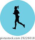 runner silhouette vector 29226018