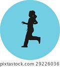 runner silhouette vector 29226036