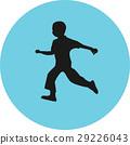 runner silhouette vector 29226043