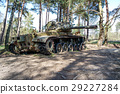Battle tank in moor 29227284