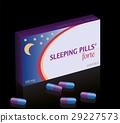 Sleeping Pills Fake Pill Box Night 29227573