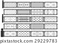 Vector set of silhouettes of iron fences 29229783