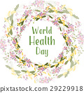 Greeting card of the World Health day 29229918