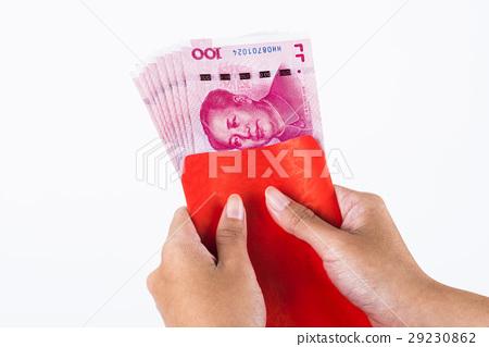 雙手抓著名的紅色深紅色,中國傳統的中國傳統習俗。 29230862
