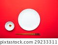 japanese red background for copy writing 29233311