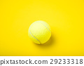 tennis ball with colored background 29233318