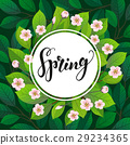 Spring text on floral background. 29234365