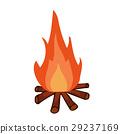 campfire, cartoon, illustration 29237169